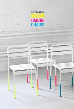 MY DIY | Neon Ombre Chairs | I SPY DIY