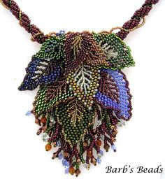 beautiful leaf necklace.
