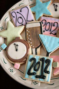 New Year's Eve Cookies. by navygreen, via Flickr