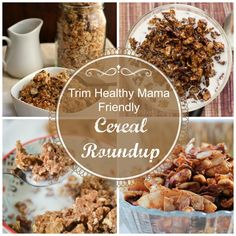 Trim Healthy Mama Friendly Cereal Round-Up - My Montana Kitchen Trim Healthy Mama Plan, Trim Healthy Recipes, Thm Recipes, Cereal Recipes, Sugar Free Recipes, Healthy Foods, Recipies, Healthy Sweets, Ketogenic Recipes