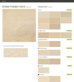 STONE FTI2382112X12. Urbanite. Porcelain. Florida Tile. Behr. Valspar Paint. Benjamin Moore. PPG Pittsburgh. Sherwin Williams. Olympic. Dutch Boy.  Click the gray Visit button to see the matching paint names.
