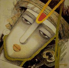Lord Krishna Painting by artist Surendra Pal Singh