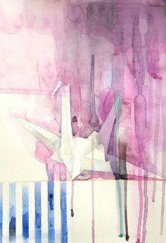 "Saatchi Art Artist Yuliya Martynova; Painting, ""Origami"" #art"