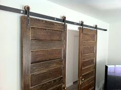Happy customer results with Modern Barn Door Hardware. See: http://rusticahardware.com/modern-wooden-rolling-door-hardware/