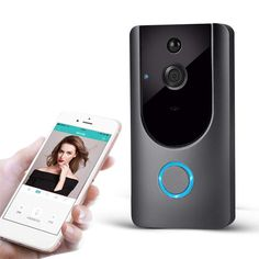 Wireless Visual Smart Doorbell Alarm Wifi Mobile Phone Remote Monitoring for sale online Digital Lock, Ring Video Doorbell, Wide Angle Lens, Business Fashion, Business Style, Wall Treatments, Wi Fi, Smartphone