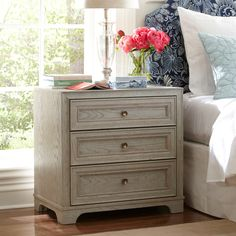 Sized right but $$$.  $526 on sale from $619. Birch Lane Orlando Nightstand