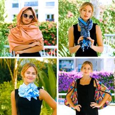 Ways To Tie Scarves, Ways To Wear A Scarf, How To Wear Scarves, Scarf Wearing Styles, Scarf Styles, Scarf Knots, Diy Scarf, Mode Outfits, Girly Outfits
