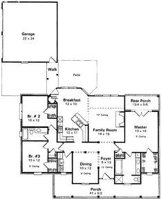 Farmhouse House Plan chp-2162 at COOLhouseplans.com