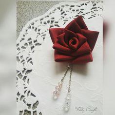 - SOLD - KANZASHI ROSE BROOCH Size (rose) : 6 cm Order  Line, wa, sms…