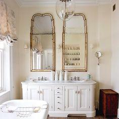 White Wooden Bathroom Vanity
