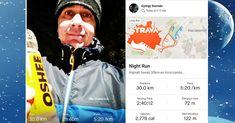 Snowy 30km night running at 3:12am. 🏃♂️🌨❄️😃 Éjszakai havas 30km-es futás... Jöhet az egészséges kávém ☕.... Edzés, a február 3-ai szülinapi 46km-es futásra (Dombnál). 🏃♂️🎂🎈 Ez lesz az első maraton+ megmérettetésem és szülinapi ajándékom! #snowy #wintertime #nightrun #runningmotivation #runninginspiration #runningman #runnersworld #longrun #30k #marathon #challenge #workout #healthylifestyles #futás #éjszakaifutás #felkészülés #motiváció #egészség #dxn #evoncafe Night Run, Runners World, How To Run Longer, Healthy Life, Running, Racing, Healthy Living, Jogging, Lob