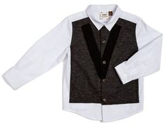 Fore!! Axel & Hudson Knit Panel Front Shirt