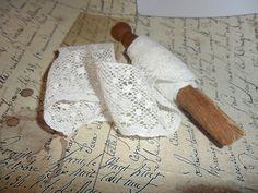 Vintage Lace Dolly Peg