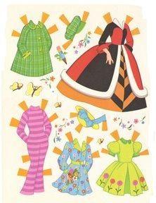 Bonecas de Papel:  Alice in Wonderland-clothes + more on blog