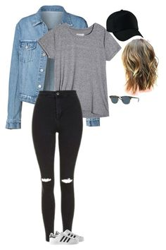 """Untitled #391"" by shadowhunters17 ❤ liked on Polyvore featuring Topshop, adidas and Ray-Ban"