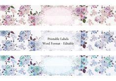 Printable Labels Soap Rose Editable Label by Silvercrystalscouk Soap Labels, Soap Packaging, Beauty Packaging, Microsoft Word, Printable Labels, Printables, Floral Vintage, Do It Yourself Wedding, Soap Maker