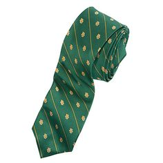 Peter Millar Baylor Bears green and gold striped tie