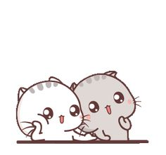 LINE Creators' Stickers - Wen small meow 8 Example with GIF Animation Cute Couple Cartoon, Cute Cartoon Pictures, Cute Love Cartoons, Cute Images, Cute Pictures, Cat Noises, Cute Baby Cats, Cute Love Gif, Cute Emoji