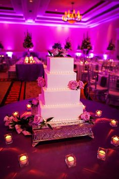 Our beautiful wedding cake. Square. Simple. Elegant!