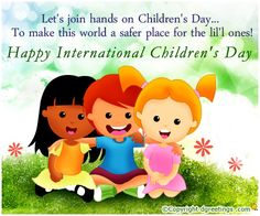 Children are sensitive and innocent. International Children's Day, Child Day, Libraries, Mornings, Winnie The Pooh, Education, Drawings, Happy, Quotes