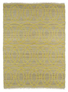 Kenwood KEN03-28 Yellow Contemporary Rug
