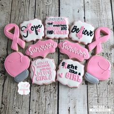 Cocoa shortbread by Christophe Felder - HQ Recipes Breast Cancer Cake, Breast Cancer Crafts, Breast Cancer Fundraiser, Breast Cancer Awareness, Iced Cookies, Royal Icing Cookies, Sugar Cookies, Cancer Survivor Party, Breast Cancer Survivor Gifts