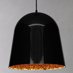 Buy Flos Can Can Pendant, Black/ Amber Online at johnlewis.com