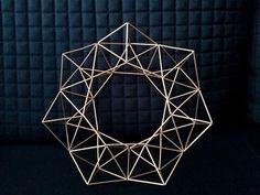geometric wreath Scandinavian style Himmeli 35 cm | geometric art | modern art | home decor | brass wreath