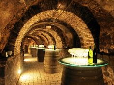 Wine Cave.  Would love to have a natural cave to ferment our barrels in and to store aging bottles.