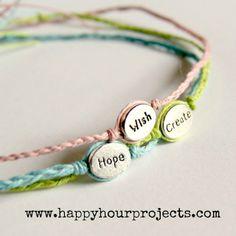 Love these easy DIY word bracelets