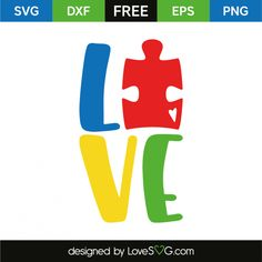 *** FREE SVG CUT FILE for Cricut, Silhouette and more *** Love