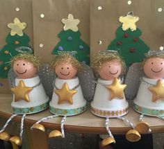christmas art Hello, my friends today we have an amazing article for you quot;DIY Clay Pot Christmas Decorations For Unique Decorquot; There are so many Christmas art Kids Crafts, Christmas Crafts For Kids, Christmas Angels, Christmas Projects, Holiday Crafts, Christmas Holidays, Christmas Decorations, Christmas Ornaments, Holiday Decor
