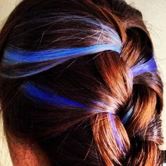 Colored French braid