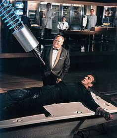 "Goldfinger-""Do you expect me to talk?"" ""No, Mr. Bond, I expect you to die!"" JMN"