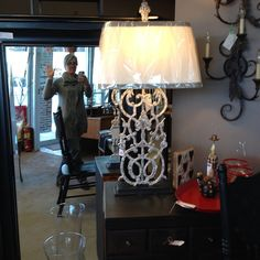 From Arhuas to yours!New Lamp $142Does anyone see a ghost?
