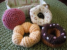 Crochet doughnuts
