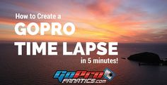 Learn how to QUICKLY and EASILY create a GoPro Time Lapse Video using the GoPro Studio 2.0 editing software.