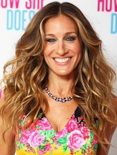 Sarah Jessica Parker at a photocall for I Don't Know How She Does It in London.      Read more: Blonde Celebrity Hairstyles - Celebrities with Blonde Hair Ideas - Real Beauty