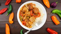 Sweet & Sour Turkey Meatballs | The Starving Chef Blog Chef Blog, Turkey Meatballs, Chef Recipes, Original Recipe, Curry, Easy Meals, Ethnic Recipes, Sweet, Food