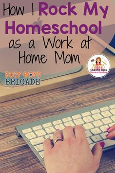 Working while homeschooling IS possible! Read about how I rock my homeschool as a work at home mom here: http://www.chaoticblisshomeschooling.com/20-days-homeschool-encouragement/