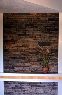 Wellington Photo Gallery: Faux Panels Design Ideas and Photos Faux Stone Veneer, Faux Brick, Faux Rock Panels, Brick Paneling, Ladders, Cabin Ideas, Diy Home Improvement, Ceilings, Small Bathroom