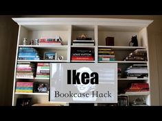 How To Make An Ikea Bookcase Look Expensive - Great DIY project to dress-up a simple piece of furniture and make it a beautiful focal point in any room.
