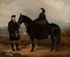 Queen-Victoria-with-John-Brown - Charles Burton Barber - Wikipedia Christian Ix, Horse Artwork, Queen Victoria, Beautiful Horses, Barber, United Kingdom, Fine Art, Brown, Artist