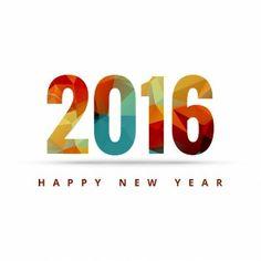 Geometrical happy new year card