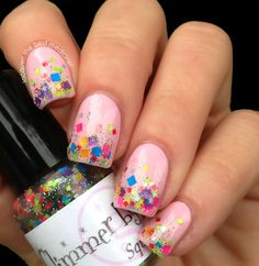 Lacquer: The Best Medicine!: Glimmer By Erica: Squared Away