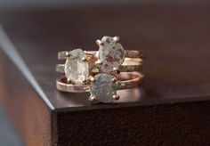 diamond slice rings by #alexisrussell