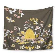 "East Urban Home Hope for the Flowers II by Very Sarie Wall Tapestry Size: 60"" H x 80"" W"