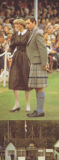September 4, 1982: Prince Charles & Princess Diana arrive at the Braemer Games, Scotland.