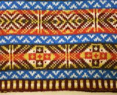 a piece of Fair Isle knitting in our Heritage Yarn