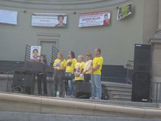 Lynn Chang speaking while Gina/Paul Jackson's parents, Kim Nepote Crishtian's mom, Trisha Bruchar Sean Dicerson's mom and myself speak to the crowd about our missing sons. Sept. 14th, 2013 in Golden Gate Park.
